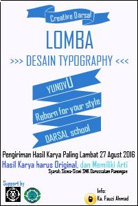 Lomba Desain Typography Yunovu Smk Darussalam Panongan